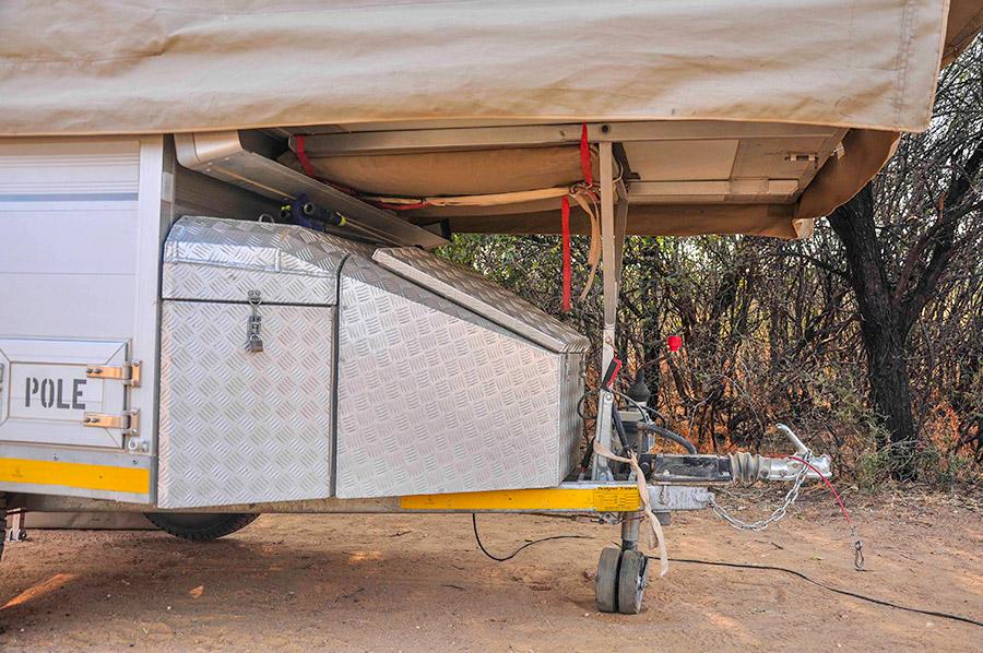 Tow A Tent storage trailer solar pole flysheet